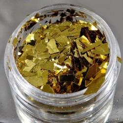 Efekt tłuczonego szkła złoty