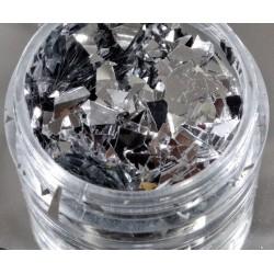 Efekt tłuczonego szkła srebrny
